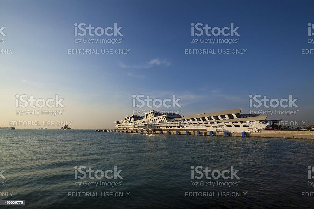 Singapore Marina Cruise terminal - Stock Image stock photo