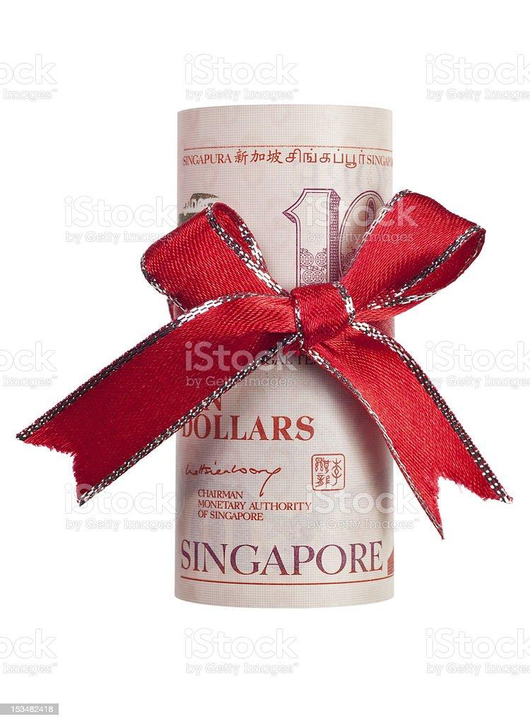 Singapore money gift stock photo