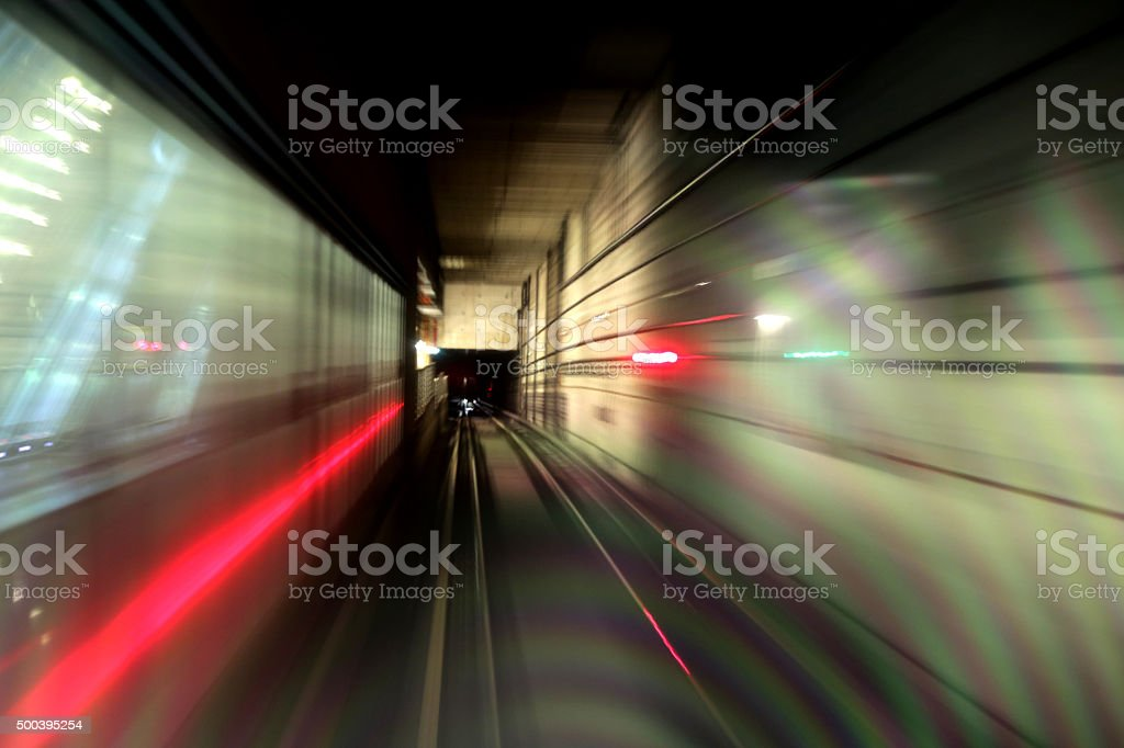 Singapore MRT stock photo