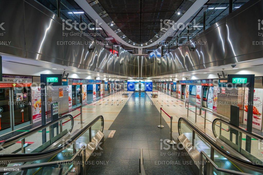 Singapore MRT station stock photo