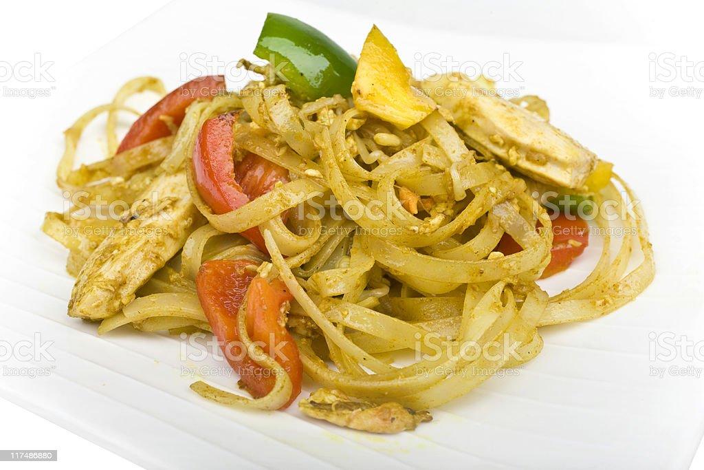 Singapore noodles royalty-free stock photo