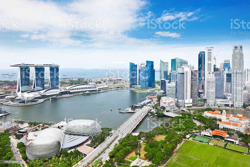 Singapore Panorama royalty-free stock photo