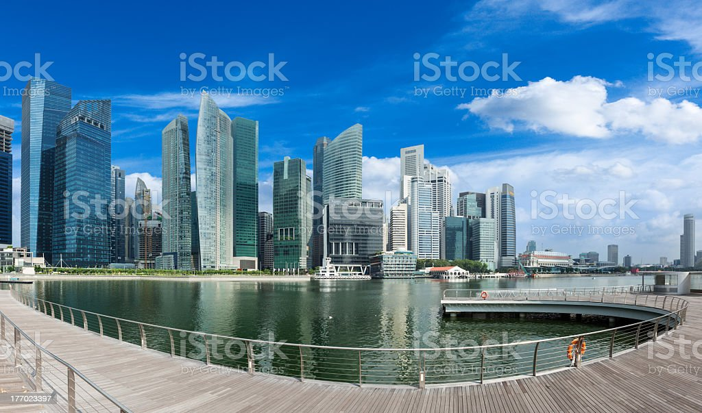 Singapore panorama royalty-free stock photo