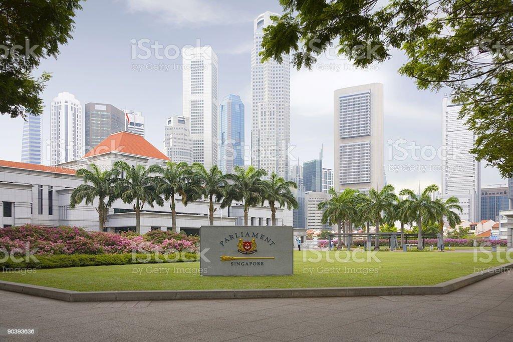Singapore Parliament House stock photo
