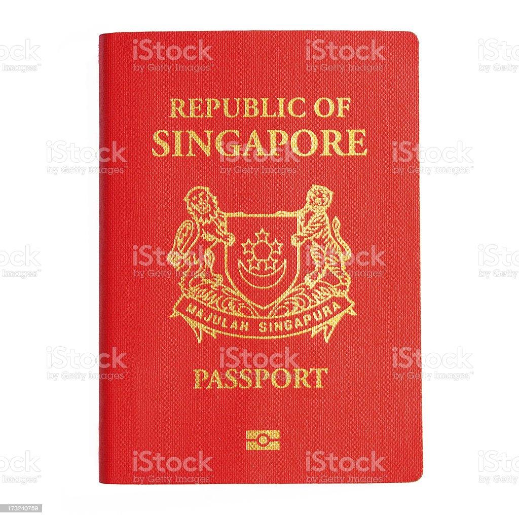 Singapore Passport (Isolated) stock photo