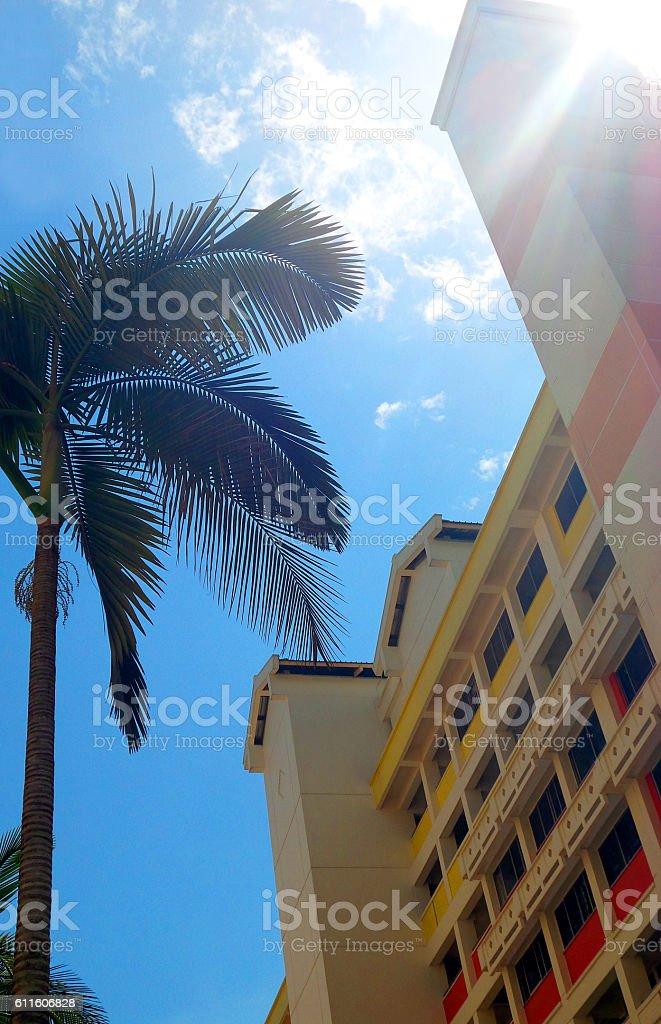 Singapore Public Housing Estate stock photo