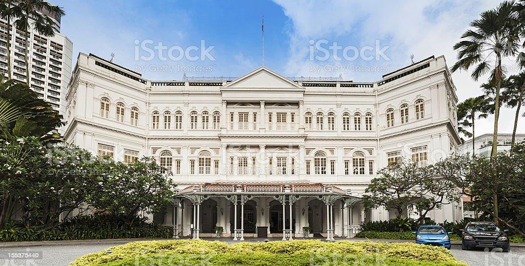 Singapore Raffles historic colonial landmark royalty-free stock photo