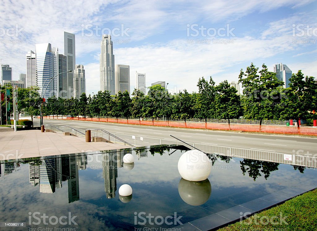 Singapore reflections royalty-free stock photo