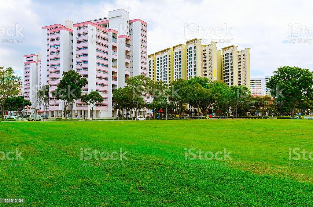 Singapore residential buildings stock photo