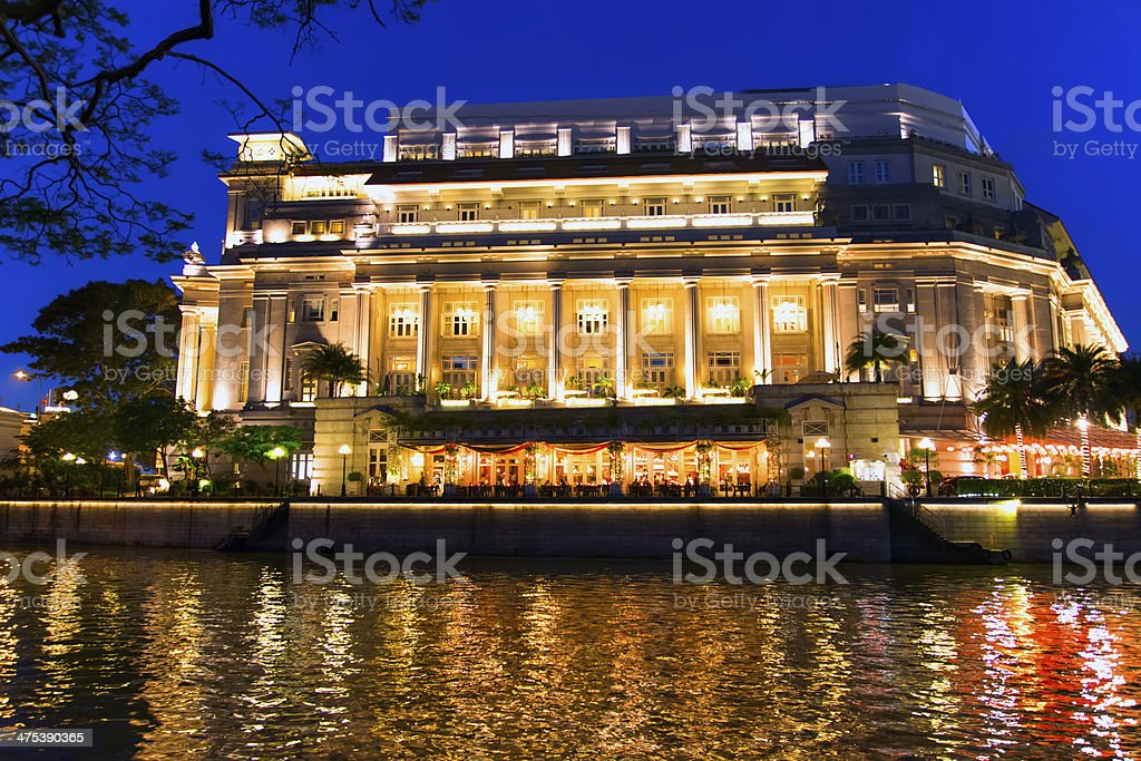Singapore River at Evening. stock photo