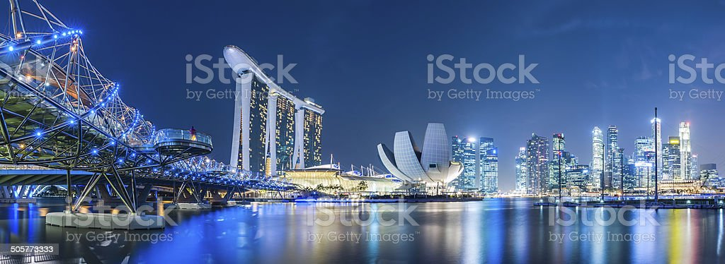 Singapore sky line stock photo