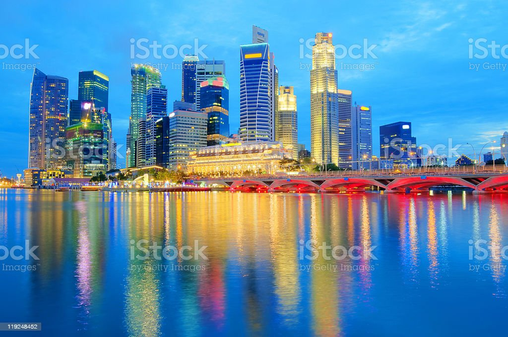 Singapore Skyline 2010 stock photo