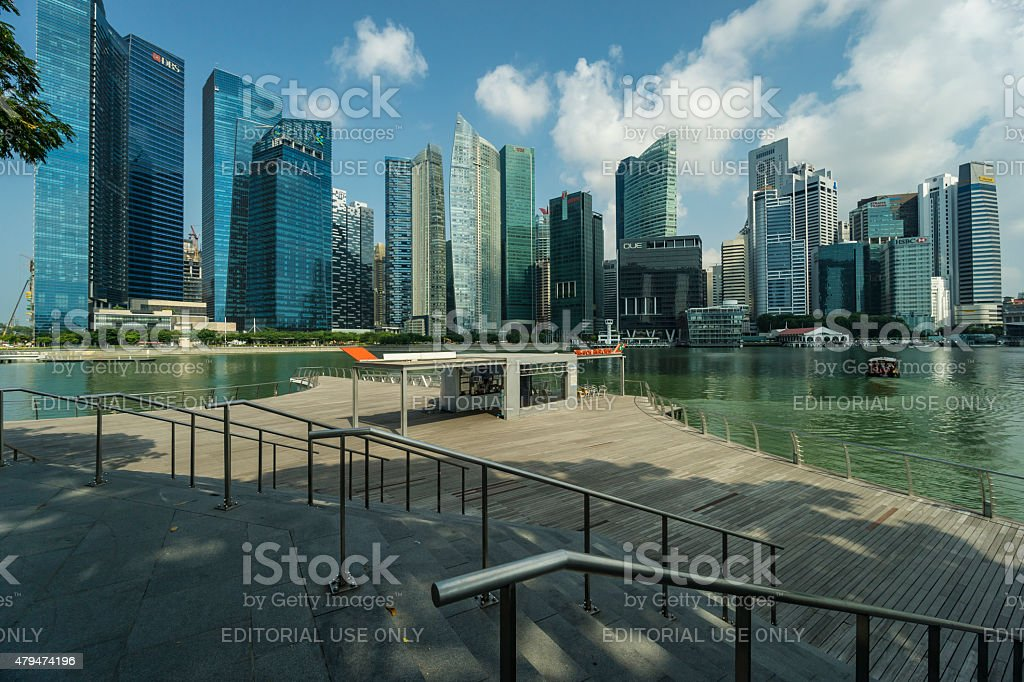 Singapore Skyline 2015 from MBS stock photo