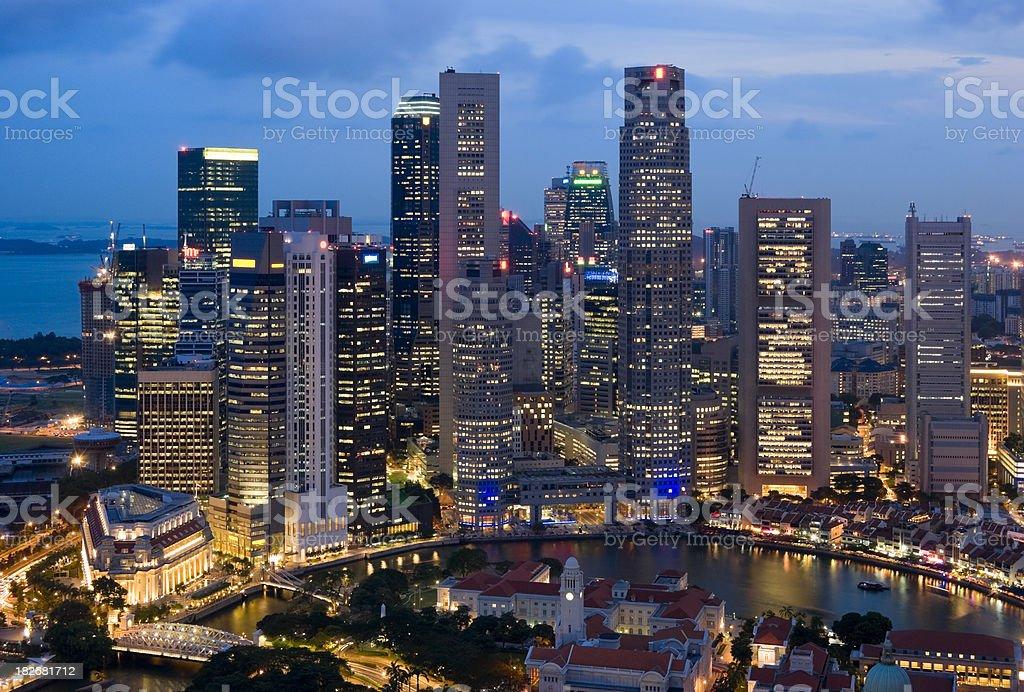 Singapore Skyline at Dusk royalty-free stock photo