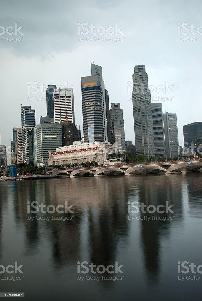 singapore skyline in the morning royalty-free stock photo