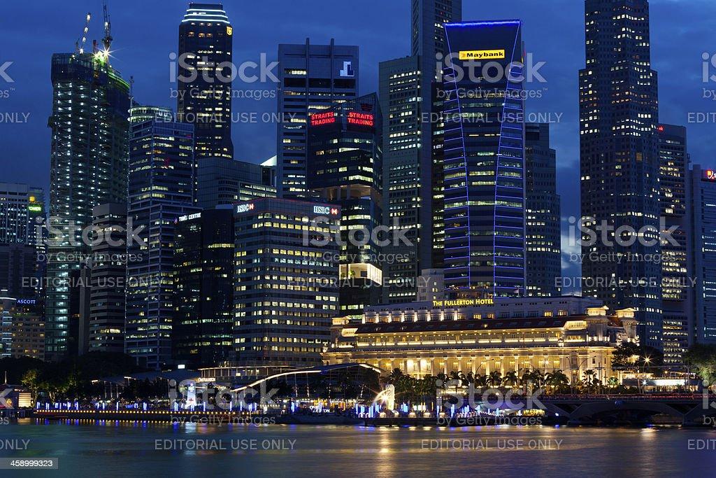 Singapore skyline royalty-free stock photo