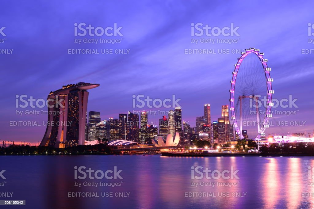 Singapore skyline stock photo
