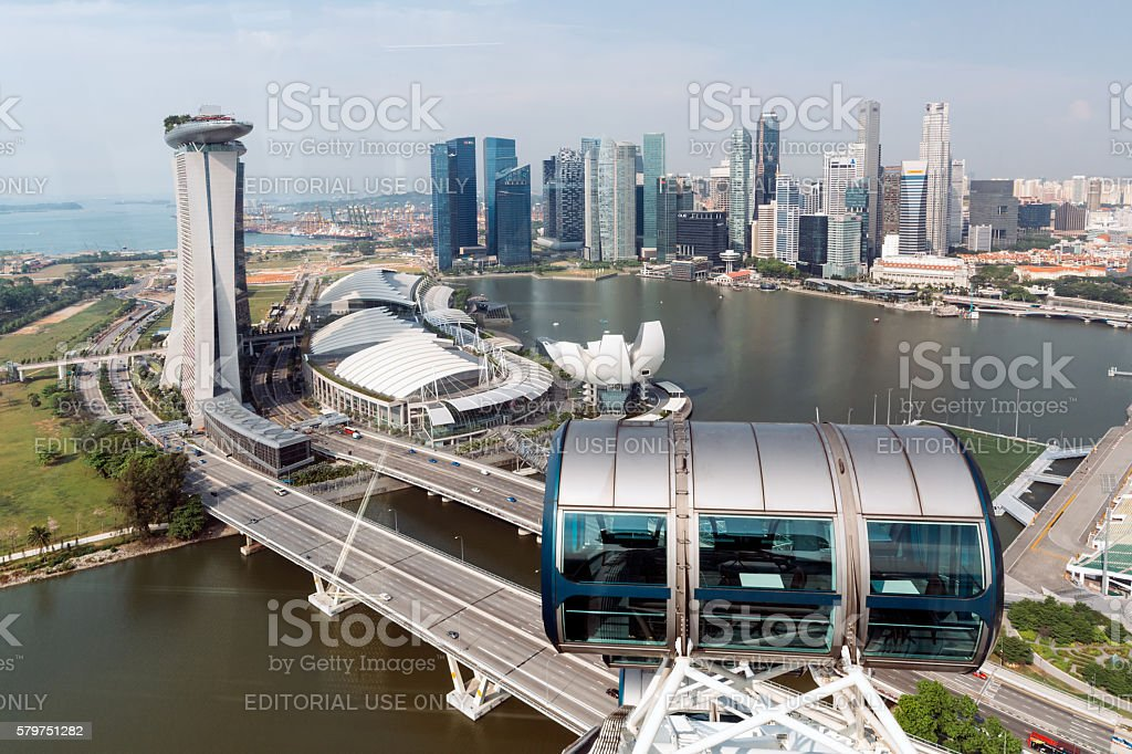 Singapore Skyline. stock photo