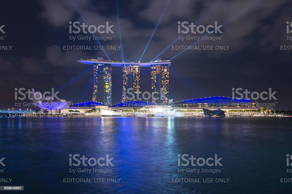 Singapore Skyline with Marina Bay Sands Hotel stock photo