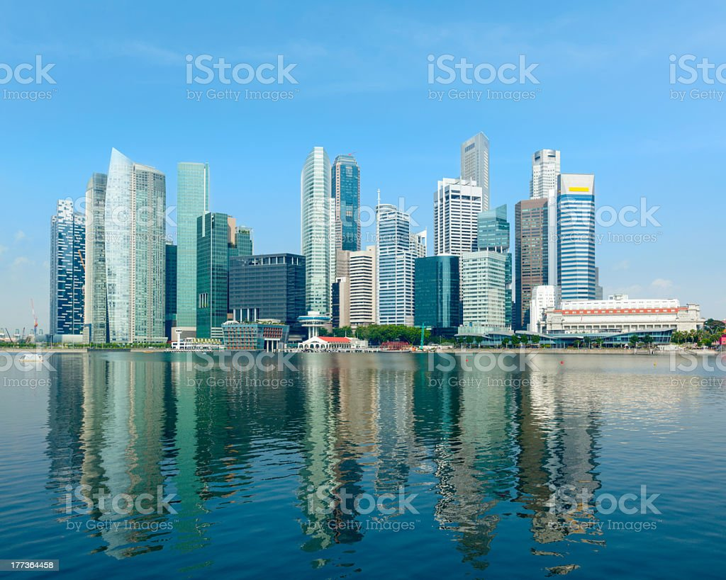 Singapore skyscrapers stock photo