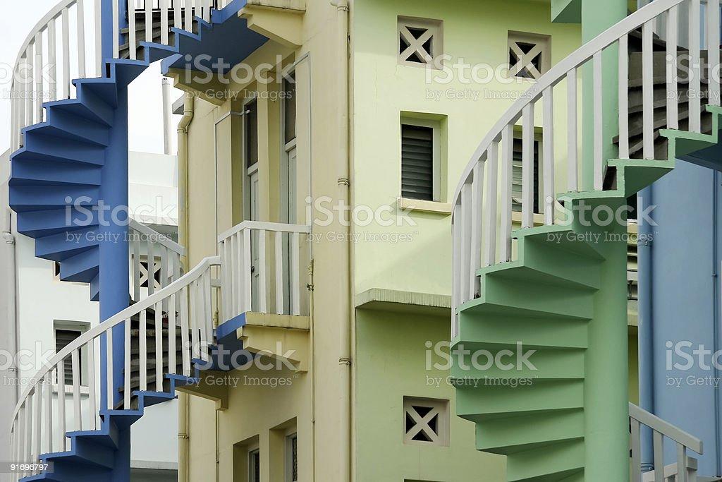 singapore steps art deco architecture royalty-free stock photo