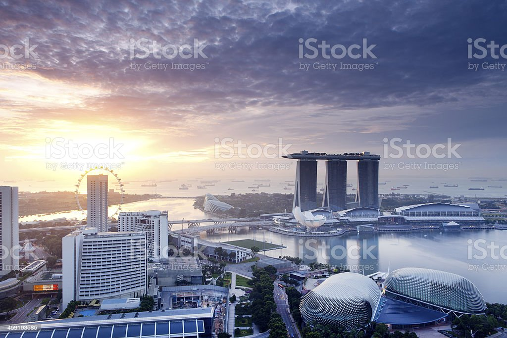 Singapore Sunrise stock photo