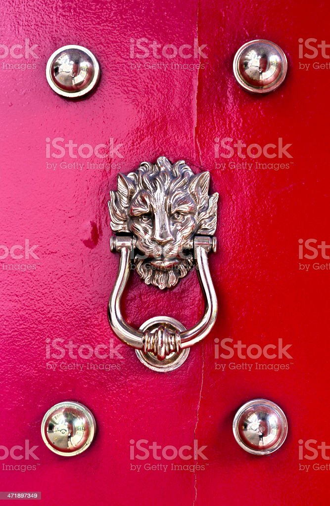 Singapore, traditional red doors. royalty-free stock photo