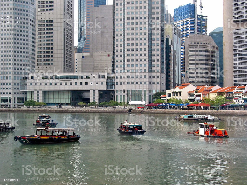 Singapore Waterfront royalty-free stock photo