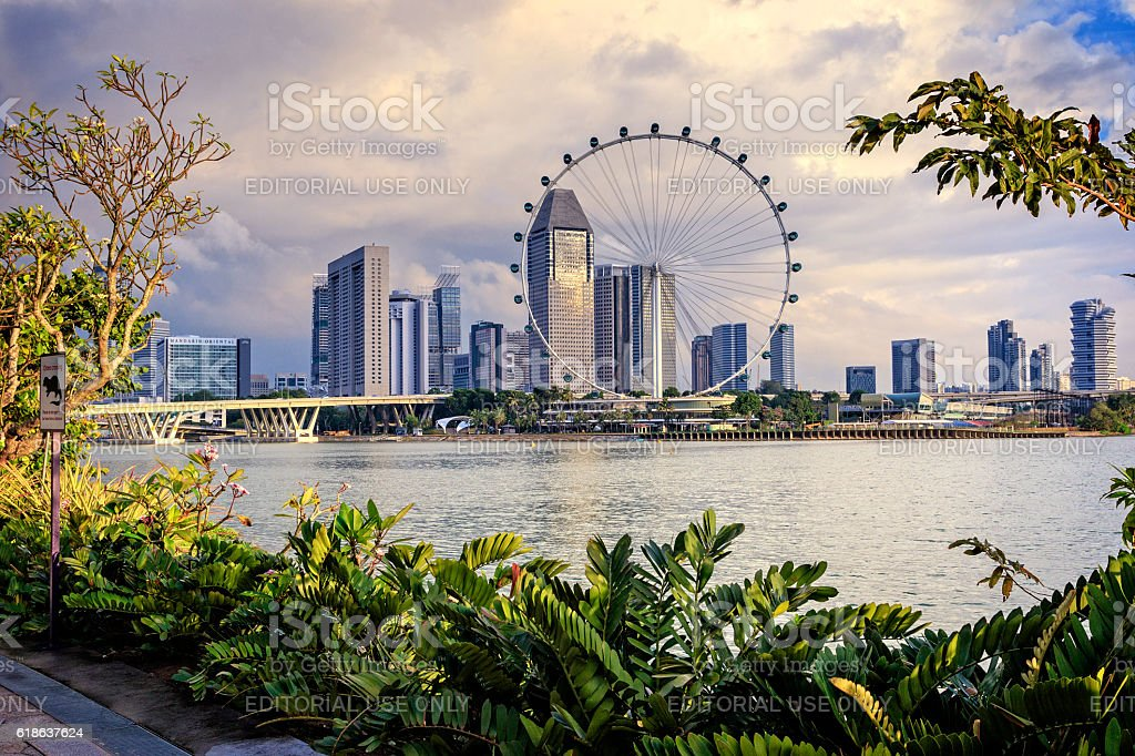 Singapore Waterfront stock photo