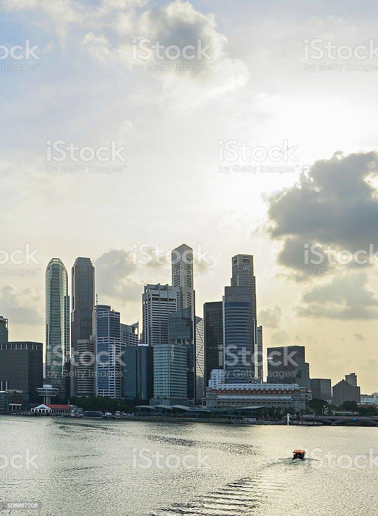 Singapore with beautiful sky stock photo