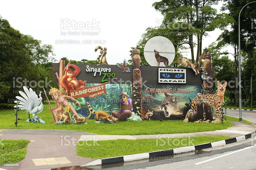 Singapore Zoo and Nigh Safari royalty-free stock photo