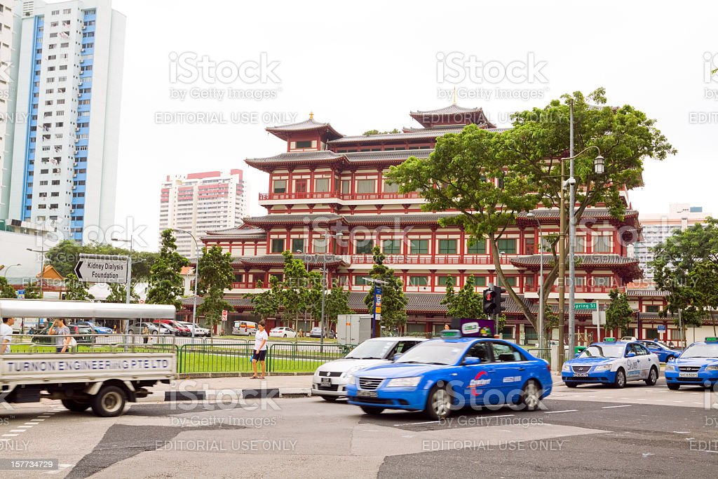Singapore's Buddha Tooth Relic Temple stock photo
