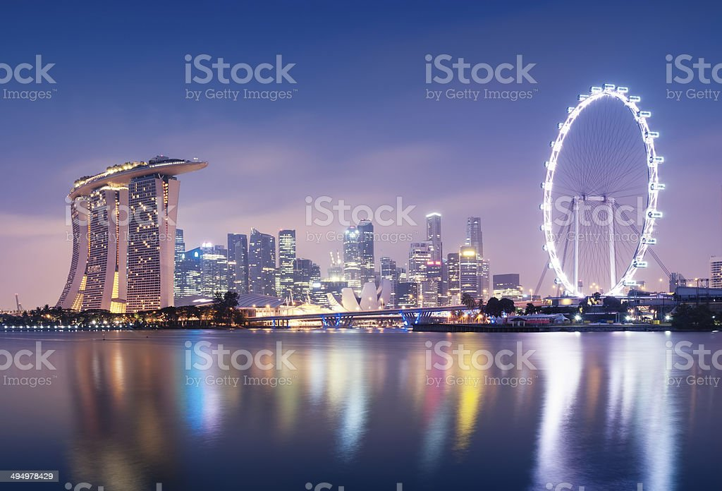 Singaporre skyline stock photo