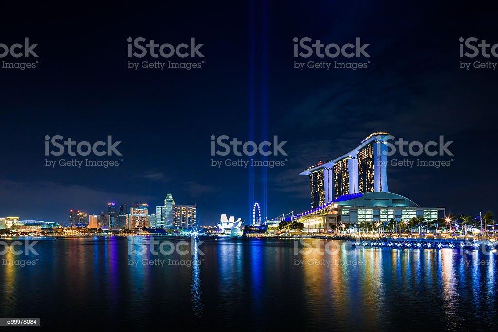 Singapur Marina Bay stock photo