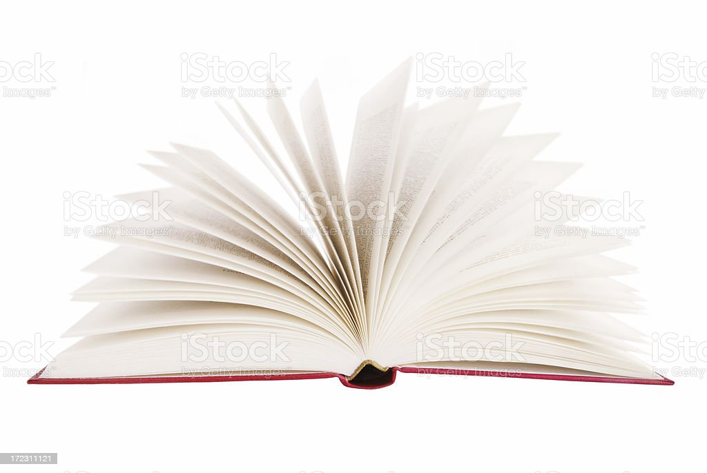 Singe book with it's pages fanned out royalty-free stock photo