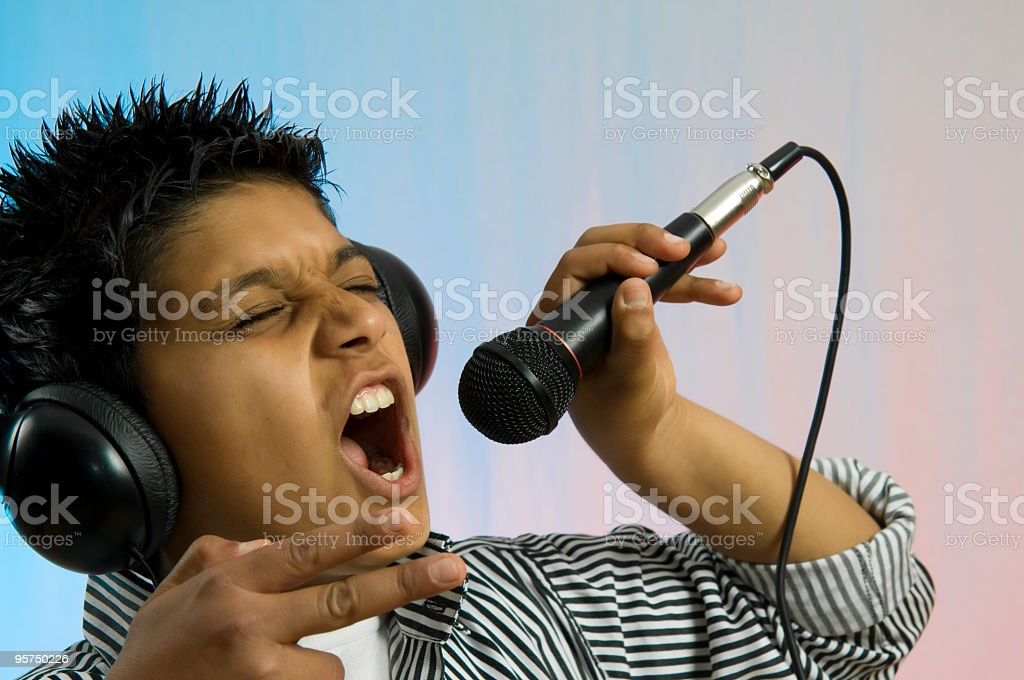 Singer Child royalty-free stock photo
