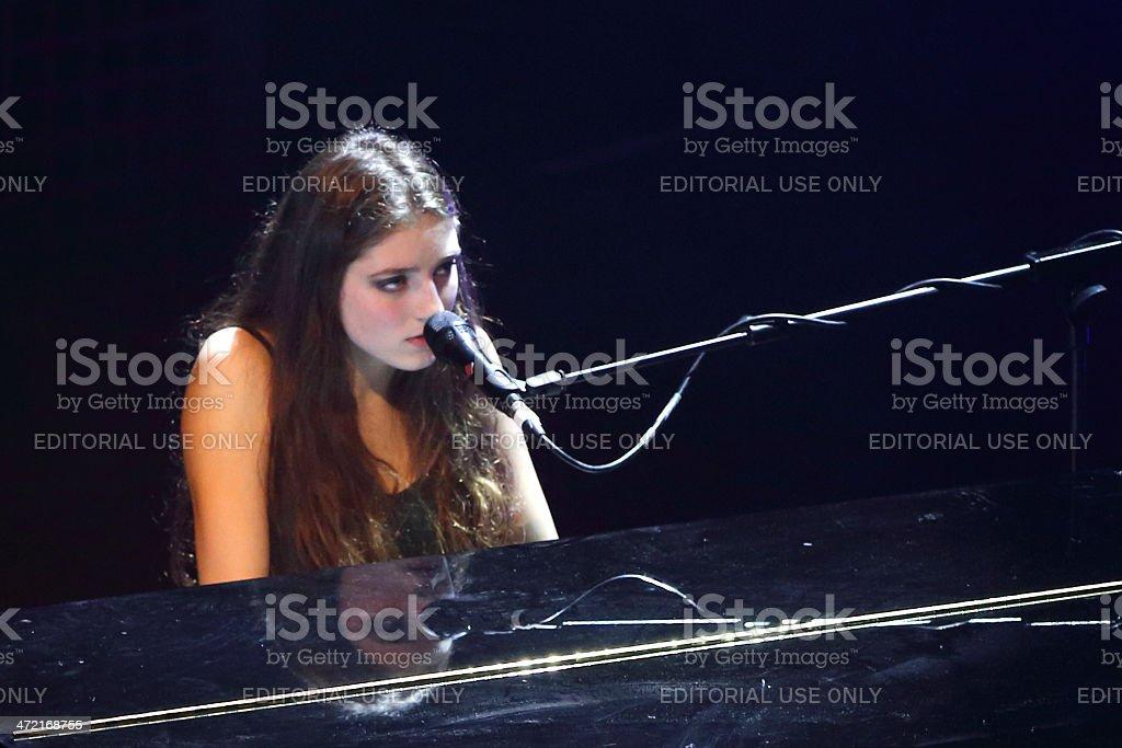 Singer Jasmine van den Bogaerde aka Birdy stock photo