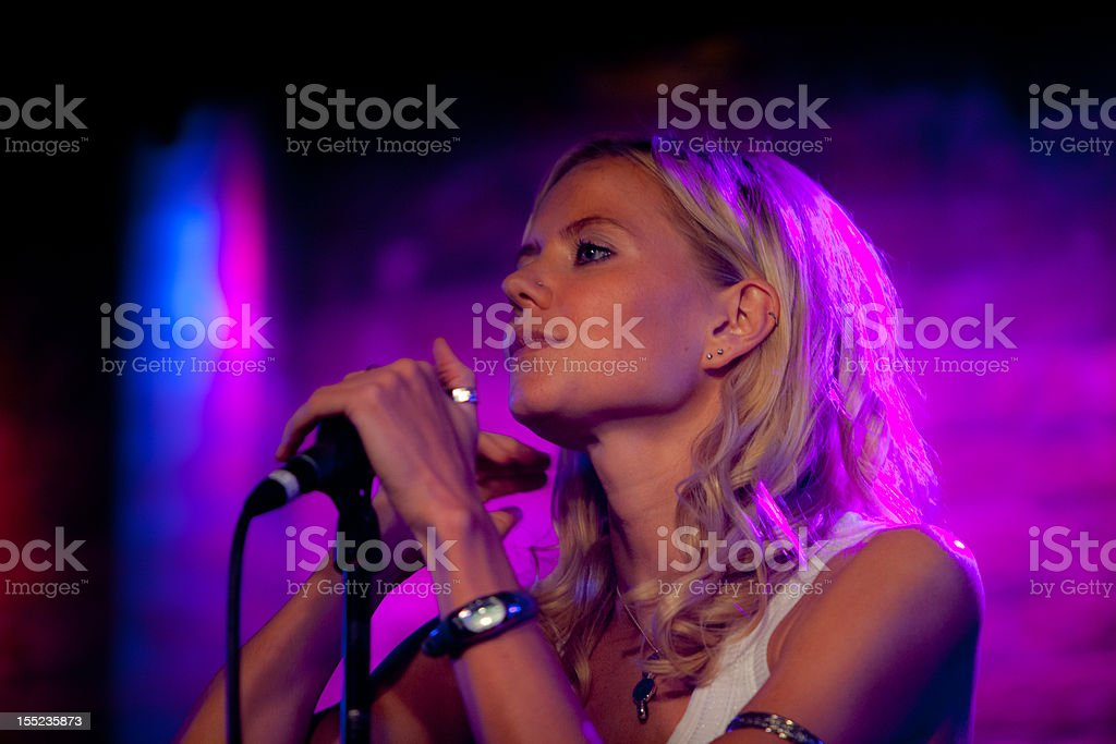Singer Jess King at Village Underground stock photo