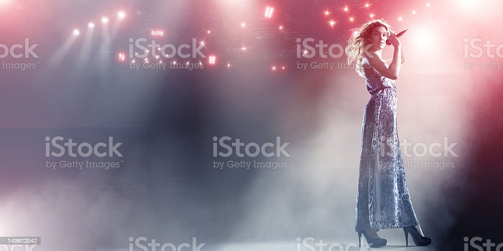Singer Live on Stage stock photo