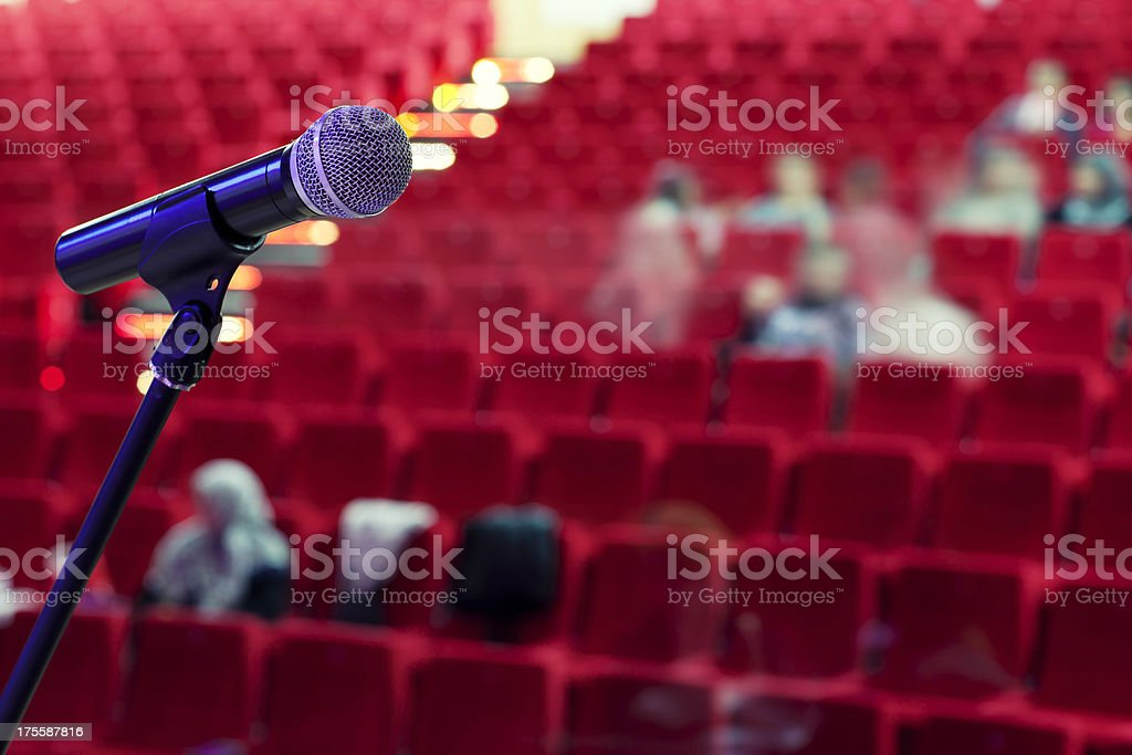 Singer microphone royalty-free stock photo