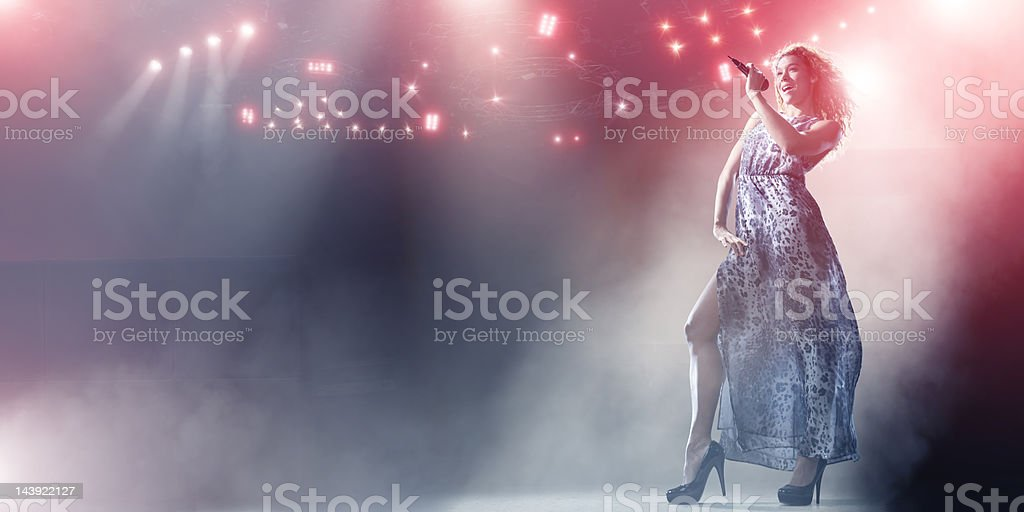 Singer on Stage royalty-free stock photo