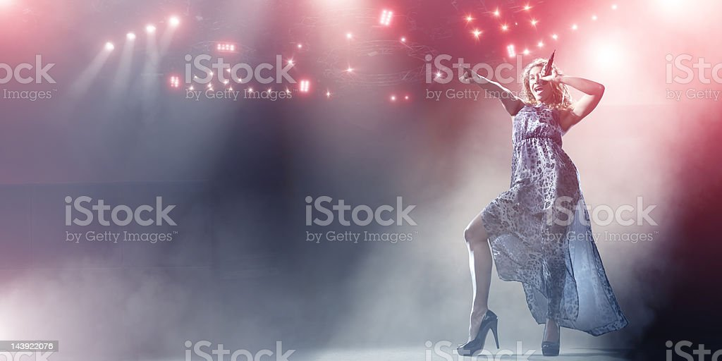Singer Performing on Stage royalty-free stock photo