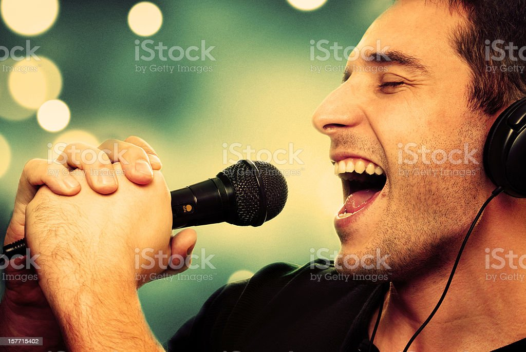 Singer stock photo