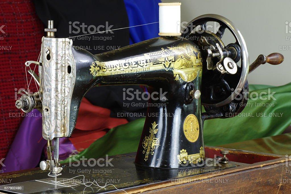 Singer sewing machine stock photo