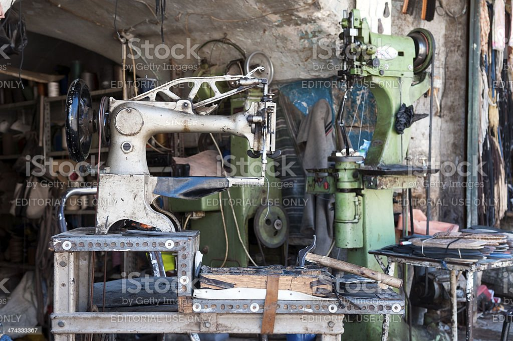 Singer sowing machine in Aleppo Syria stock photo