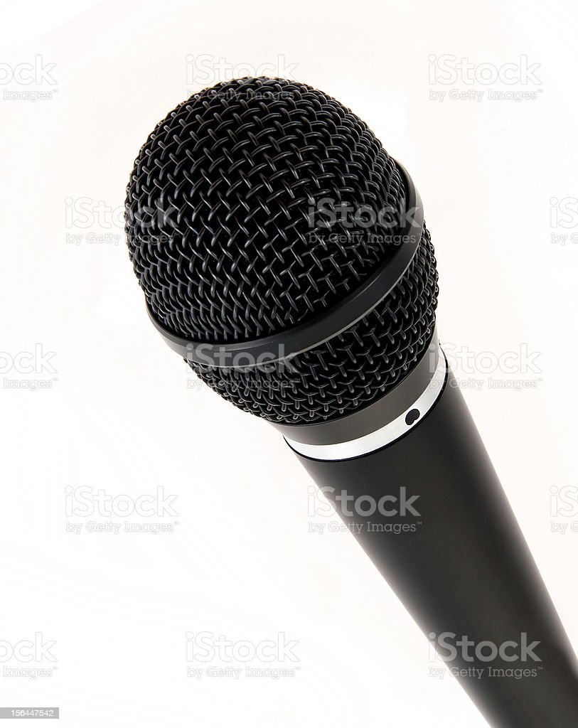 Singer Stage Microphone royalty-free stock photo