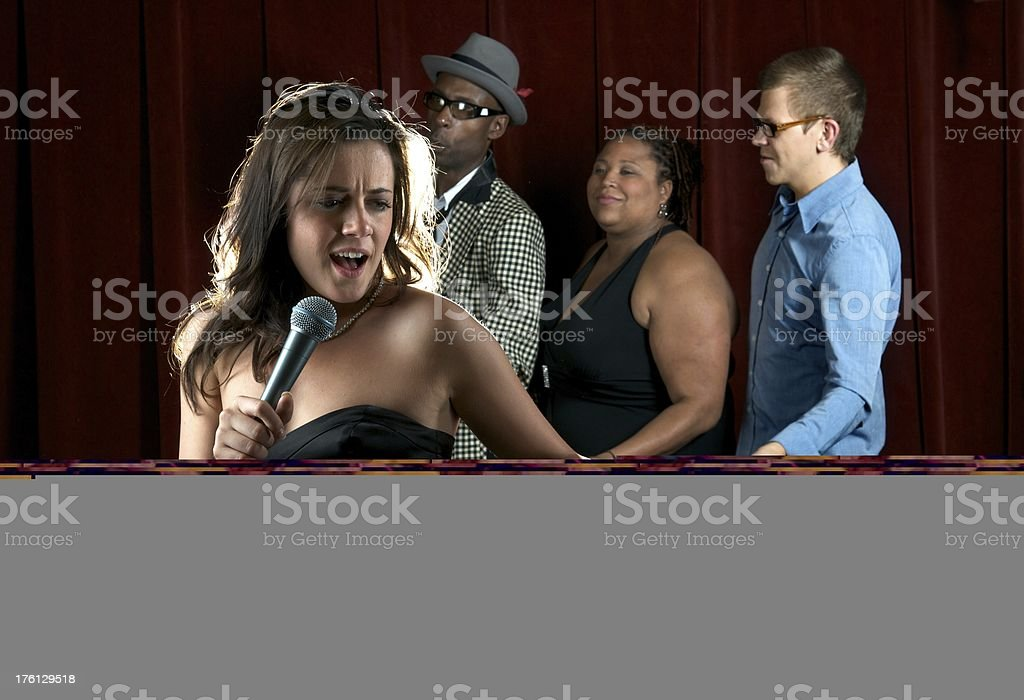 Singers in a Night Club stock photo