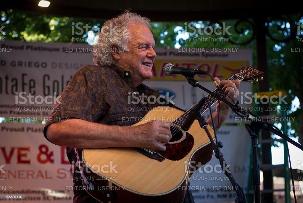 Singer-Songwriter Peter Rowan Performing in Santa Fe, NM stock photo