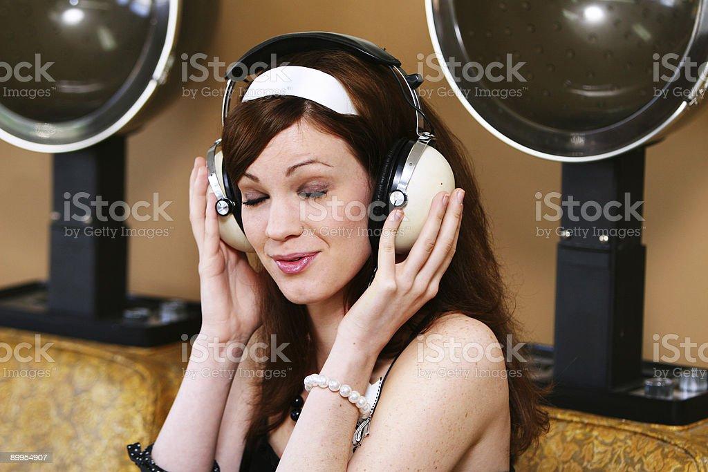 Singin' With the Radio royalty-free stock photo