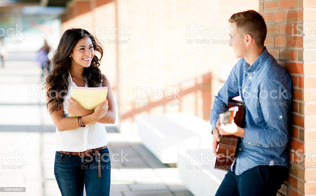 Singing a Song on Campus stock photo